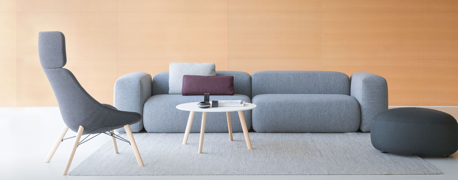 Seating systems modern design sofas, poufs and lounge chairs ...